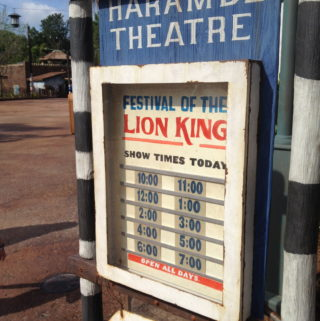 Festival of the Lion King in Animal Kingdom
